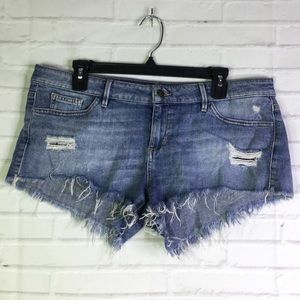 Guess Size 31 Distressed Cheeky Cutoff Jean Shorts